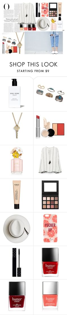 """Untitled #144"" by nclarke-evelyn on Polyvore featuring Vanity Fair, Bobbi Brown Cosmetics, Miss Selfridge, The Giving Keys, MANGO, Calypso Private Label, Kate Spade, Gucci and Butter London"