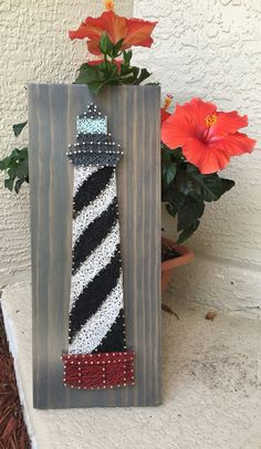 MADE TO ORDER Lighthouse String Art Wooden Board by StringSimply