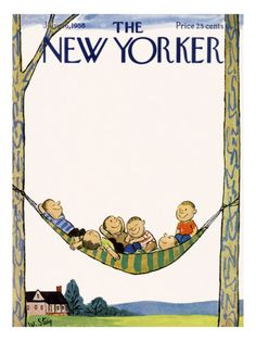 William Steig : Cover art for The New Yorker, 26 July 1958 The New Yorker, New Yorker Covers, Magazine Art, Magazine Covers, Tree Illustration, Arte Pop, Book Cover Art, Geek Art, Vintage Magazines