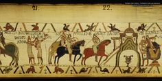 Bayeux Tapestry 22. Here William came to Bayeux