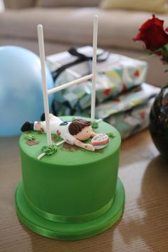 Today is my Dad's birthday! The plan for the cake came from my sister Lauren. She chose a Rugby themed...