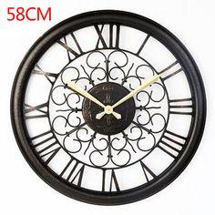 Pas cher Montre Saat 3D Grand Mur Horloge Reloj de pared Horloge murale À Quartz…