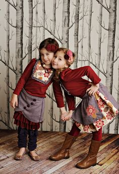 These outfits are too precious! Love the style and the fabric choices!
