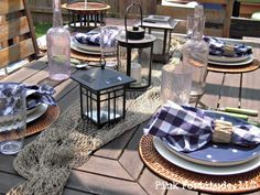 Summer is sailing away tablescape by coconutheadsurvivalguide.com #nautical #design