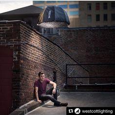 Image via @westcottlighting   #behindthescenes portrait with @readylightmedia…