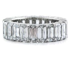 This ring actually makes my heart beat faster. 8.07 carats, VVS, Colorless, Criss Cut Diamonds, Platinum Eternity Band. Christopher Designs does it well.