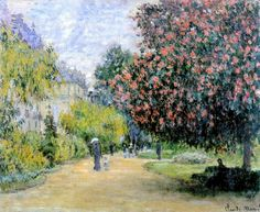 Le Parc Monceau (C Monet - W 399),1876.
