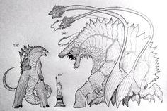 My Godzilla size comparison to my Biollante by TheGreatestLoverArt