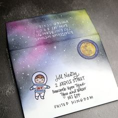 Lawn Fawn Outer Space Envelope - Monthly Mail Art, March 2017 http://www.kwernerdesign.com/blog/?p=17367