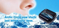 Arctic circle now starts just below your nose