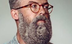 """Despite recent claims that we have reached """"peak beard,"""" the burly facial hair trend shows no signs of slowing down — but Schick New Zealand is looking to do something about that, threatening to tame hipster beards everywhere with their """"Free Your… Hipster Bart, Hipster Stil, Trucage Photo, Sexy Bart, Barba Sexy, Straight Razor Shaving, Beard Humor, Man Images, Funny Images"""