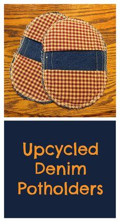 88d5baca7b4b Upcycle your old jeans into some new denim potholders! These potholders are  easy to make even for beginner sewers.