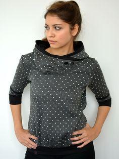 Hoodies - Kapuzenshirt - grau - Sterne - Hoodie - ein Designerstück von stadtkind_potsdam bei DaWanda
