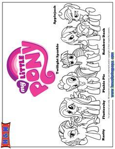 Kleurplaat My Little Pony Kleurplaten
