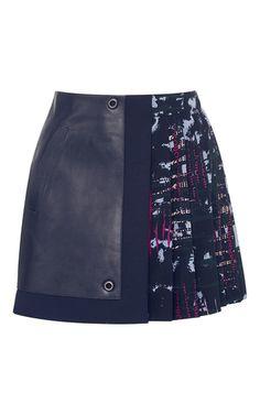Pleated Mini Skirt by VERSACE for Preorder on Moda Operandi