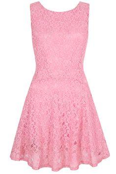 Ροζ καλοκαιρινό φόρεμα από δαντέλα | Yumi London | Phillyshop.gr #pink