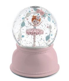 Djeco Nattlampe-snøkule med batteri, Ballerina