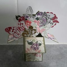 Small card in a box made by Noreen Meekins using some stampinup and kaszazz proucts