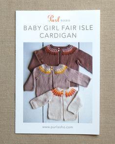 Baby Girl Fair Isle Cardigan   Purl Soho