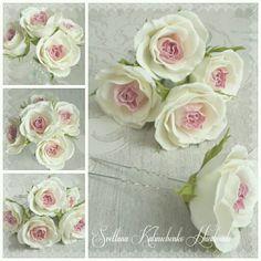 Роза на шпильке  из ревевелюра (Цветы из фоамирана флористика искусственная моделирование конструирование)
