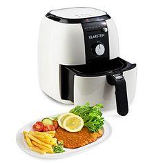 Klarstein VitAir Fries Basic Basic Hot-Air Fryer Oil-Free (1400W, 3L, 80 to 200 ° C, Easy Operation via Rotary or Sliding Controller) White