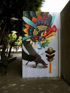 #street art Mexico: CURIOT.
