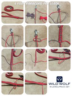 - How to Make a Paracord Pet Leash - Video Tutorial and Printable Instructions tutorial pets 6 Foot Paracord Pet Leash Paracord Dog Leash, Rope Dog Leash, Diy Dog Collar, Collar And Leash, Dog Collars, Paracord Braids, Paracord Weaves, Paracord Tutorial, Diy Braids