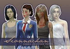 http://sims4ccthebest.blogspot.com/2016/09/zombie-bodyface-paints-by-sionnachan.html?spref=fb