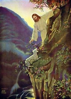 Ralph Pallen Coleman Matthew and if it may come to pass that he doth find it, verily I say to you, that he doth rejoice over it more than over the ninety-nine that have not gone astray (YLT) My favourite painting ever ♥ Jesus Our Savior, Jesus Art, God Jesus, Pictures Of Jesus Christ, Bible Pictures, Image Jesus, Première Communion, Christian Pictures, Jesus Painting