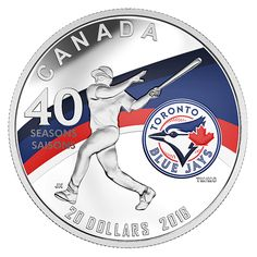 Royal Canadian Mint Canada Offers: New 1 oz. Pure Silver Coin To Celebrating the Season of the Toronto Blue - Best Daily Deal Site, Top Deal Site, Best Online Deal Site, Top Deals Website, Best Site for Deals Canadian Coins, American League, Go Blue, Toronto Blue Jays, Sports Baseball, Major League, 1 Oz, Silver Coins, Seasons
