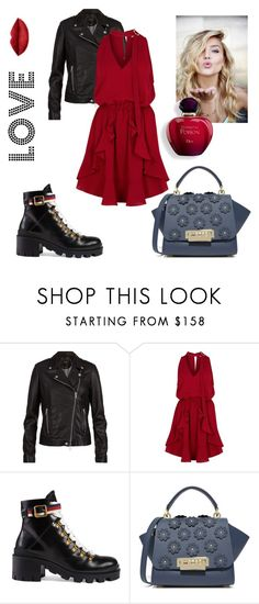 """""""Love ❤️"""" by sleepintheclouds ❤ liked on Polyvore featuring SET, Finders Keepers, Gucci and ZAC Zac Posen"""