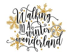 Free SVG cut file - Walking in a Winter Wonderland