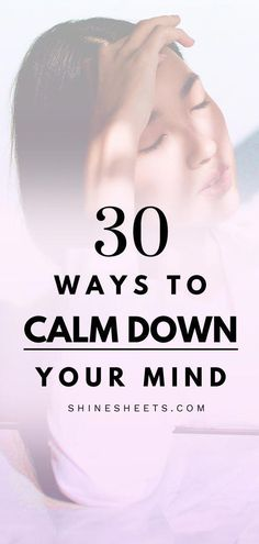 Do you feel anxious, stress or worried? Constantly living in high anxiety mode? Get 30 soothing and calming ways to calm down your mind and relax deeply. Bonus: get printable tools to get rid of negative thoughts right now! Cbt Techniques, Relaxation Pour Dormir, Calming Activities, Stress Relief Tips, Understanding Anxiety, Dealing With Stress, Positive Psychology, Cognitive Behavioral Therapy, Personal Development