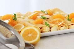 Citrus & Sugar Crepes made with Marcel's Double Love Sweet Crepes Breakfast Recipes, Dinner Recipes, Dessert Recipes, Desserts, Crepe Recipes, Crepes, Recipe Ideas, Gluten Free, Sugar