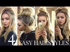 Easy Hairstyles For Long Hair: 4  QUICK & EASY HEATLESS SCHOOL HAIRSTYLES