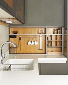 Recessed panel in kitchen Kitchen Dinning, Wooden Kitchen, Kitchen Decor, Cafe Interior, Kitchen Interior, Modern Interior Design, Interior Architecture, Minimalist Room, Japanese Interior