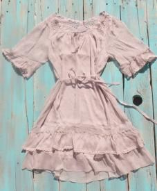 Country Crochet Dress perfect bohemian cowgirl dress to wear with your old gringo cowboy boots! $29.99