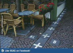 The Border Between Belgium and Nederlands