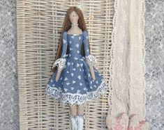 Tilda regalo de Alisa.FREE hecho a mano de la muñeca. Tilde de la muñeca. Muñeca de textil. Muñeca de trapo. Inicio Decoration.Handmade Doll,Doll.Tilda muñeca