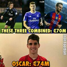 Oscar, Is he Worth more than them?