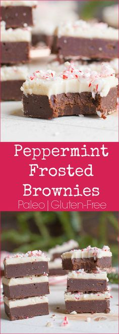 Meet your new favorite holiday dessert!!! These double layer brownies are so decadent and delicious! No one will guess they are Paleo and grain-free.