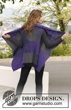 """Sweter bez rękawów DROPS rzędami skróconymi, z włóczki """"Verdi"""". Od S do XXXL. ~ DROPS Design"""