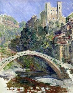 Claude Monet (1840-1926, France) | il castello di Dolceacqua, 1884 (Paris, Museée Marmottan)