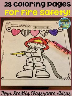 Fire Prevention and Safety Fun! Color For Fun Printable Coloring Pages! #Free Fire Station Dog Page in the Preview! October is Fire Prevention and Fire Safety Month, have a little fun with these inviting printable coloring sheets. Upcoming Fire Prevention Weeks starts on: October 09, 2016 ... October 08, 2017 ... October 07, 2018 #FernSmithsClassroomIdeas