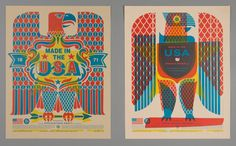 Made in the USA Poster | West Michigan Graphic Design Archives