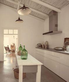 Kitchen in rustic Portuguese farmhouse