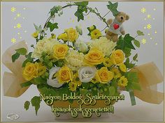 Nagyon Boldog Születésnapot kívánok Name Day, Beautiful Roses, Fantasy Art, Floral Wreath, Happy Birthday, Table Decorations, Flowers, Celebrities, Happy B Day