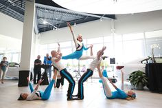 FEAT Acrobatics 5- Person Group Acrobalance corporate event