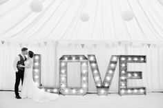 The Hire Supplier Illuminated 'LOVE' letters @ Nyland Manor Popcorn Stand, Bristol England, Love Letters, United Kingdom, Rustic, Lettering, Wedding, Vintage, Popcorn Cart