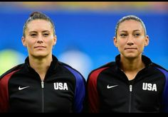 Ali Krieger and Christen Press start for the #USWNT game against Colombia on August 9.
